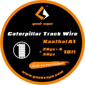 Filo resistivo Geek Vape Kanthal A1 Caterpillar Track Wire, utilizzo professionale.