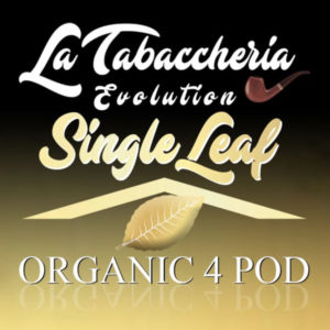 Aromi Concentrati La Tabaccheria Organic 4 Pod Single Leaf