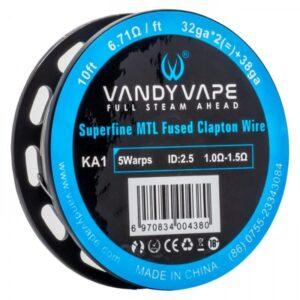 Filo resistivo Vandy Vape Superfine MTL Fused Clapton Wire 32ga