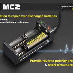 Caricabatterie XTAR MC2